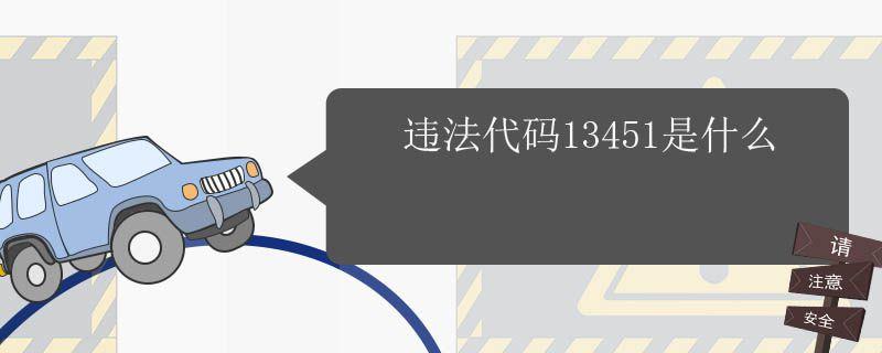 违法代码13450是什么,违法代码13445是什么
