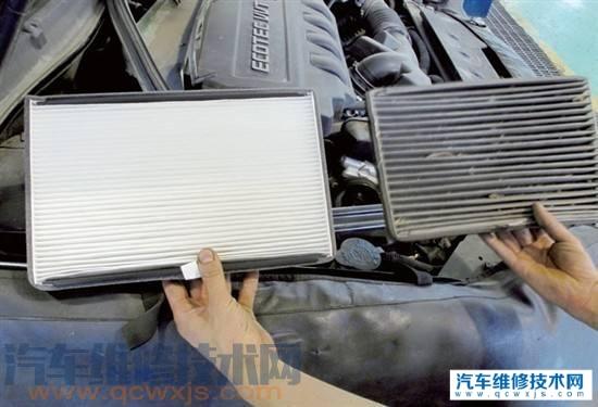 汽车空调滤芯多长时间应该更换?可以吹一下再用吗?