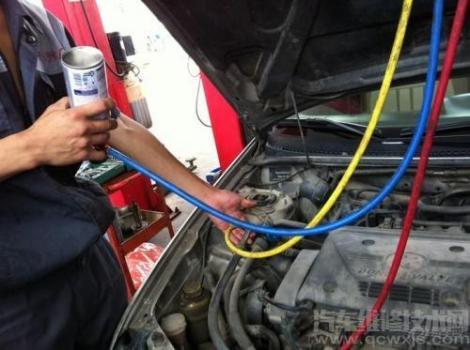 汽车空调维修案例:汽车空调制冷不好且鼓风机转速越高出风温度也越高